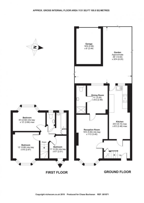 Floorplans For Wolsey Drive, Kingston Upon Thames