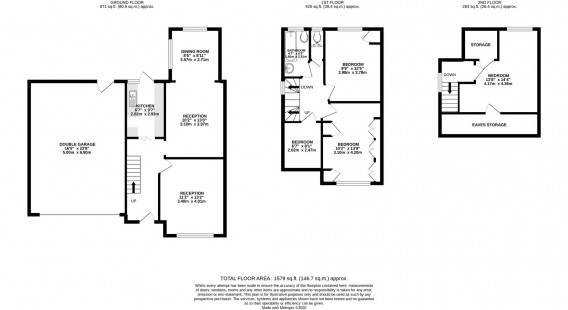 Floorplans For Woodlands Road, Isleworth